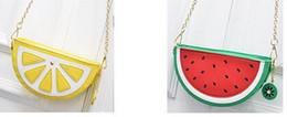 Wholesale Watermelon Art - 2017 art tide one shoulder Han Guodong gate worn chain bag The new orange watermelon bag lady