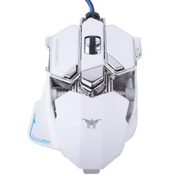 Wholesale Gaming Programmable - Combaterwing CW80 4800 DPI Optical USB Wired Professional Gaming Mouse Programmable 10 Buttons RGB Breathing LED Mice