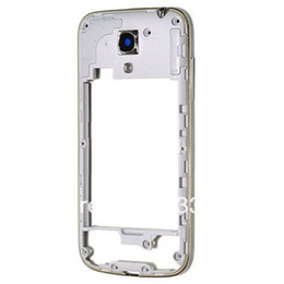 Wholesale Rear Side - Original Rear Housing Middle Frame Bezel Case Cover For Samsung Galaxy S4 i9500 i9505 i337 Housing +Side Button free DHL