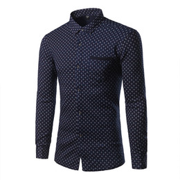 Wholesale Mens Dress Shirts Polka Dot - Wholesale- Fashion Simjple Mens Shirts Thickening plus velvet Warm Autumn Hot Seller Mns Clothes All-match Outwear or Inside Wear KMC3052