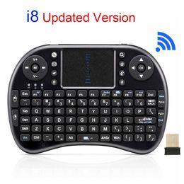 Wholesale Wireless Razer - Original i8 Mini Wireless Keyboard 2.4G English Air Mouse QWERTY Keyboard Gaming USB Keyboard Touchpad For Android TV Box Laptop