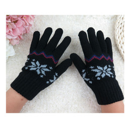 Wholesale Children Gloves Wool - Wholesale- Unisex Children Knitted Winter Gloves Cashmere Soft Warm Mitten