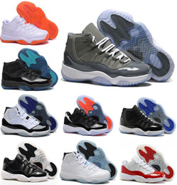 Wholesale Navy Cherry - 2016 high quality air retro 11 white red Basketball Shoes low Varsity Red DS Cherry XI Navy Gum Blue athletics Sports Sneakers shoes