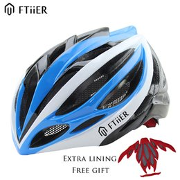 Wholesale Bicycle Helmet Bmx - Ftiier Professional Cycling Helmet FT57 Mountain Road Bicycle Helmet BMX Extreme Sports Bike Skating Hip-hop DH Helmet Casco Ciclismo