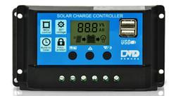 2019 temporizador negro Nuevos Controladores Negros 10A Paneles Solares Controlador de Carga de Batería Conversores de Conversión Automáticos Lámpara Regulador Temporizador Venta Directa de Fábrica 31dm A rebajas temporizador negro