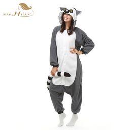 Wholesale White Tail Cosplay - 2016 Unisex Pajamas Costume Cosplay Animal Pets Costumes Onesie Sleepwear For Women Men Adults Long-tailed Monkey pijamas mujer