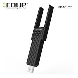 Wholesale High Speed Wifi Usb Wireless - Wholesale- usb wireless wifi adapter 802.11ac EDUP 600mbps 5ghz wifi receiver double 2dbi antenna high speed wifi adaptador network card