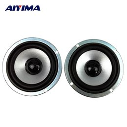 Wholesale Dvd Accessories - Wholesale- AIYIMA 2pcs 3 inch 4 ohm 10W Full-range speakers circular magnetic computer audio multimedia speaker small speaker accessories