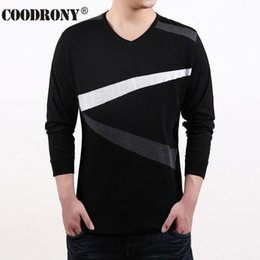 Wholesale Cheap V Neck Sweaters Solid - Wholesale- Hot Sale Cheap Sweater Men Flash Pattern Long Sleeve V-Neck Shirt Men Casual Clothing Plus Size Factory Wholesale Brand OEM 66