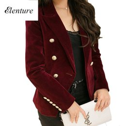 Wholesale Korean Long Blazers For Women - Hot Sale Korean Brand Womens Blazer High Quality Luxury Corduroy Suits For Womens Casual Business Office Work Dress Tops