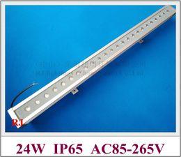 Wholesale Outdoor Aluminum Bar - new design Luxurious aluminum and reinforced glass 24 led 24W LED wall washer light lamp LED bar light flood light AC85-265V