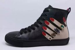 Wholesale Christmas Hand Work - Letu105 Christmas Gift Sexy Red Fingers Palm Hand Rhinestone Women High Top Shoes Winter Boots Ankle Boots Genuine Leather Shoes, Sz 35-39