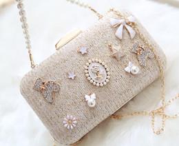 Wholesale Dress Hand Bags - sales high-quality diamond pearl pearl diamond woman handbag lovely woman nightclub party dress dinner bag hand bag straw evening bag