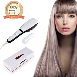 Wholesale Digital Steamer - Electric Straightening Hair Irons Brush With Steamer LCD Display Mist Sprayer Fast Hair Straightener Styling Tools Comb Free Shipping