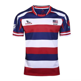 frete grátis malásia Desconto Frete grátis! Malásia rugby jersey preto Impressão de transferência de calor de alta temperatura Jersey Rugby Camisas duráveis lavadas