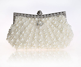Wholesale Women Birthday Purse - Wholesale- 2016 High Quality Cream Evening Bag Women's Beaded Zircon Handbag Clutch Birthday Gift Party Purse Makeup Bag Mujer Bolso 92045