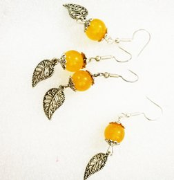 Wholesale Wedding Present Diy - 2017 hot sale from China fashion DIY free shipping wholesale price fashion popular yellow crystal earrings for women with low as present
