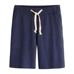 Wholesale Jersey Plus Size Shorts - NEW 2017 Summer Style Drawstring Mens100%cotton Big Pocket Elastic Waist Men Casual Joggers Streetwear Shorts Plus SIze M-4XL