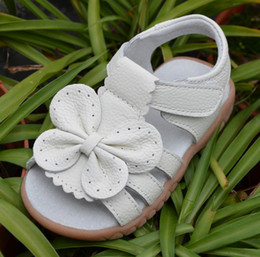 Wholesale Girl Bow Flats - baby girls sandals leather open toe with butterfly chaussure de nina zapatos kids flat white sandal summer shoes toddler shoes