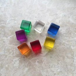 Wholesale Clear Blank Acrylic - 12mm Crystal Blank Dice Mini D6 Square Corner Clear Dice Acrylic Cube Transparent Dices Game Children Educational DIY Toy Multi Colored #B46