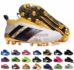 Wholesale Ground Spikes - Ace 16+ Purecontrol Primeknit Soccer Cleats Firm Ground Cleats Trainers NSG FG CG ACE 16 Mens Football Boots Soccer Shoes With Box
