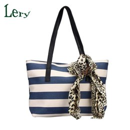 Wholesale Cheap Wholesale Tote Handbags - Wholesale-2016 Fashion Big Striped Plaid Ladies Handbags High Quality Shoulder Bags Clutches Famou Brand Women Bag Canvas Cheap Tote Bags