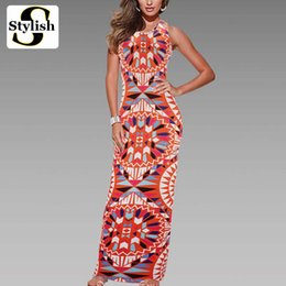 Wholesale Hooded Dresses For Women - omen's Clothing Dresses Maxi Dress Summer Bohemian Boho Dress 2017 New Fashion Sexy Sleeveless Print Bandage Tank Long Dresses For Women ...