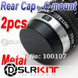 Wholesale Cctv Covers - Wholesale- 2pcs Metal C mount Rear Lens Cover cap for CCTV TV Lens