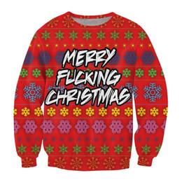 Wholesale Christmas Tree Sweatshirt - Wholesale-Fashion 3D sweatshirt women men Christmas Sweat print Deer Pizza Christmas tree Dinosaur Carlton Crewneck sweatshirt