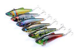 spogliarelli spogliarono Sconti 6 pz di Bionic vib Fishing Lure Esca Artificiale Wobbler 7 cm, 9g Lure Richiamo Swimbaits Pesca Fishing Tackle Ganci
