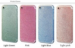 Wholesale Glitter Stickers For Phones - Glitter Color iPhone 5 5s 6 Plus Skin Sticker Rainbow iPhone Decal Stickers for iPhone5 Cell Phone Mobile Screen Protector New Fashion Sweet
