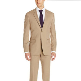 Wholesale Purple Tailored Jacket - Gray lapel men suits tailor made men wedding suits tuxedos slim fit single breasted formal feast dinner dress suits(jacket+pants)