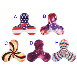 Wholesale United Toys - LED Luminous USB rechargeable Fidget Spinner triangle Spinner New United States Flag Bluetooth Music Spinners Decompression Toys B