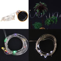 Wholesale outdoor novelty string lights - 8 10 LED Solar Wine Bottle Stopper Copper Fairy Strip Wire Outdoor Party Decoration Novelty Night Lamp DIY Cork Light String