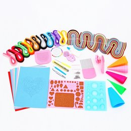 Wholesale Pressure Tools - Free Shipping Most Complete Quilling Paper Tools drawing material package Home DIY Decoration Pressure Relief Gift