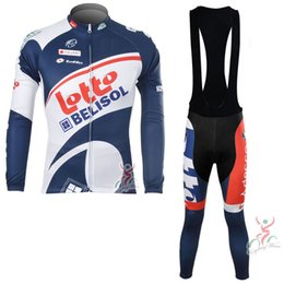 Wholesale Cheap Suits China - New LOTTO Cycling Clothing Ropa Ciclismo Long sleeves Men's Cycling jerseys suit autumn MTB bike sportswear cheap clothes china D0107