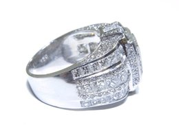 Wholesale Princess Round Diamond Ring - Mens Platinum Princess & Round Cut 9.80tcw White Diamond Multi Set Big Ring