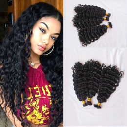 Mongolian Human Hair Bulk No Weft Deep Curly 3 Bundles Hair Bulk For Braiding Can be Dyed FDSHINE Coupon