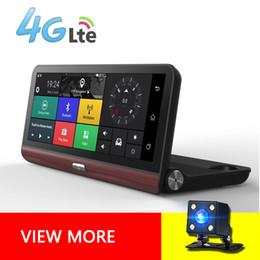 Wholesale 4g Car Camera - Car DVR 7.84 Inch 4G Car GPS Navigation DVR Android FHD 1080P Video Recorder Dash Cam Bluetooth WiFi Camera ADAS App Control