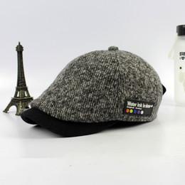 Wholesale Chapeau Femme - Wholesale-2016 man vintage newsboy cap male wool bone woman winter beret hat female flat cap femme knit chapeau wholesale