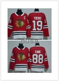 Wholesale New Style Fan - New Style 88 Patrick Kane 2018 Chicago Blackhawks Jerseys Ice Hockey 19 Jonathan Toews Jersey Red #2 Duncan Keith All Stitched Sport Fans