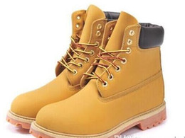 Wholesale Knee High Boots Sneakers - 2017 Fashion Classic 10061 Wheat Yellow TBL Boots Women Mens Retro Waterproof Outdoor Work Sports Shoes Casual Sneakers Size 36-44