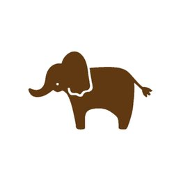 Wholesale decal elephant - Wholesale 20pcs lot Automobile Motorcycle Products Vinyl Decal Car Stickers Glass Stickers Scratches Sticker Jdm Cute Elephant Graphic