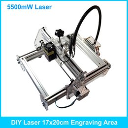 Wholesale Laser 17 - 5500mW Blue Laser Engraving Machine Mini DIY Laser Engraver IC Marking Printer Carving Size 17*20CM