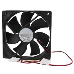 Wholesale Dc 12v Brushless Cooling Fan - Wholesale- CAA Hot PC Brushless DC 4 Pin Connector 7 Blades 12V 12cm 120mm Cooling Fan