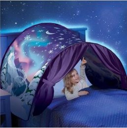 Wholesale Moon Night Light Children - 3 Styles 80*230cm New Children Dream Tents Folding Type Moon White Clouds Cosmic Space Baby Mosquito Net Without Night Light CCA7743 50pcs