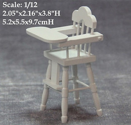 Wholesale Dollhouse Chairs - 1 12 Scale Dollhouse Miniature Baby Dinning Chair BB Furniture Doll House Dinning Room