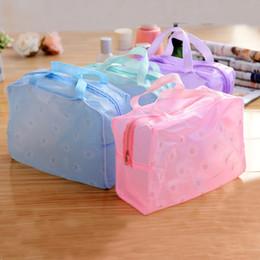 Wholesale Plastic Shower Organizer - New Travel Waterproof Sport Bag Organizer Women Cosmetic Makeup Storage Bag Wash Shower Bath Bag GYM Pouch Free Shipping TT364