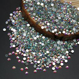 Toptan-Yüksek Kalite Süper Parlak Nail Art Rhinestone Beyaz Crystal Clear AB Renk Olmayan Düzeltme Flatback Kristal Strass Taşlar cheap nails art nereden çivi sanatı tedarikçiler
