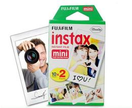 Wholesale Photographic Cameras - Instax mini film camera photographic papers Photo camera Film White Sheet Camera Christmas Mini 7 8 7s 25 100 Sheets Polaroid